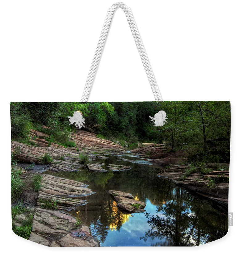 Tranquility Weekender Tote Bag featuring the photograph Fall Is Right Around The Corner In by Image By Sean Foster