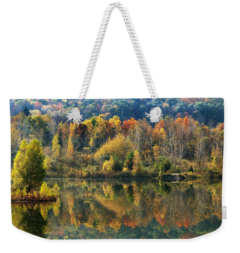 Fall Weekender Tote Bag featuring the photograph Fall Kaleidoscope by Christina Rollo