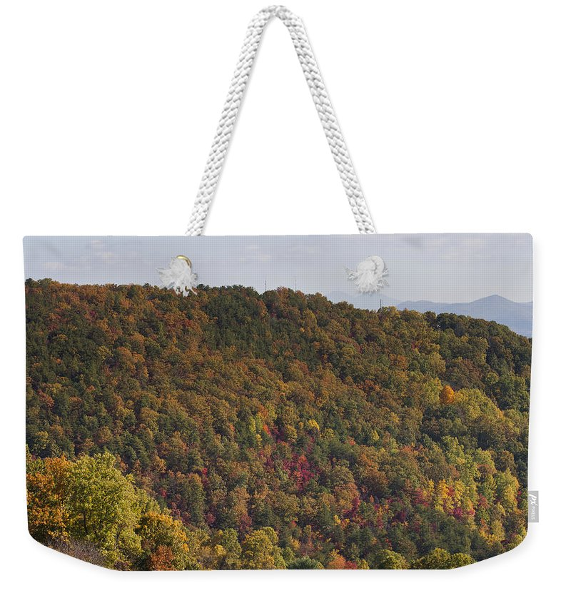 Fall Weekender Tote Bag featuring the photograph Fall Palette by Teresa Mucha