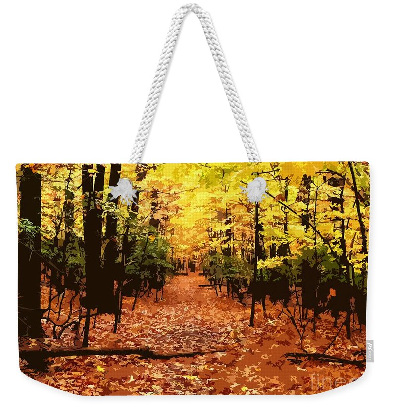 Fall Weekender Tote Bag featuring the photograph Fall Path by Jefferson Hobbs
