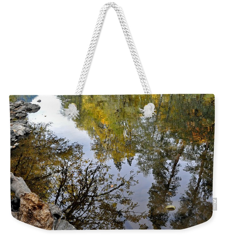 Reflections Weekender Tote Bag featuring the photograph Fall Series 34 by Teri Schuster