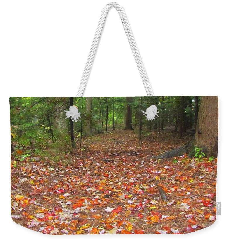 Leaves Weekender Tote Bag featuring the photograph Fallen Leaves by Elizabeth Dow