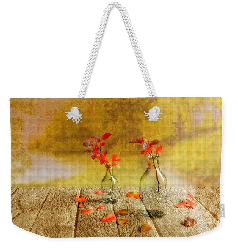 Art Weekender Tote Bag featuring the photograph Fallen Leaves by Veikko Suikkanen