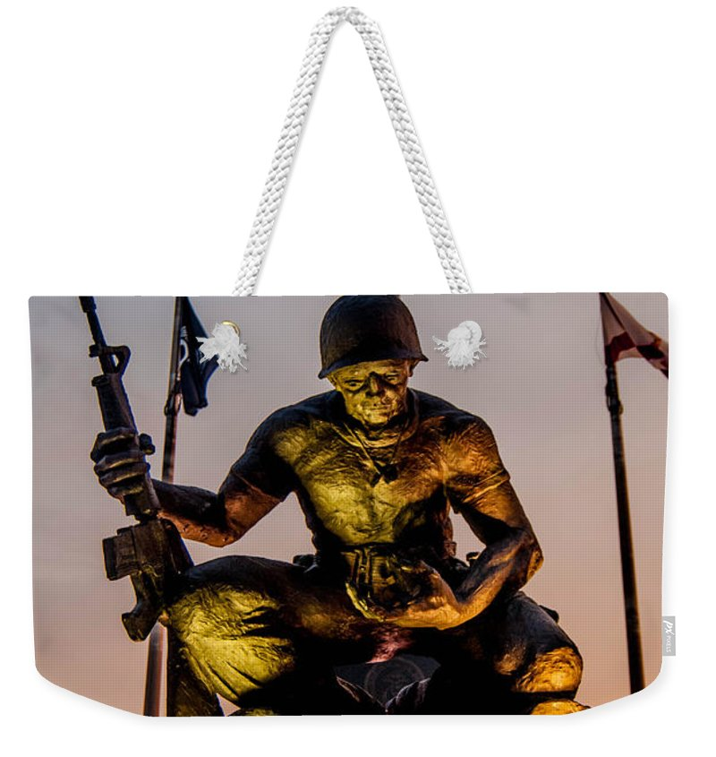 Fallen Soldier Weekender Tote Bag featuring the photograph Fallen Soldier 2 by Jon Cody