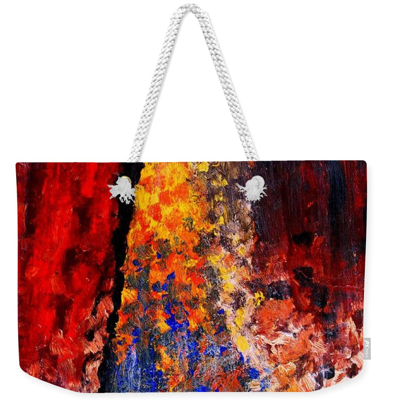 Abstract Weekender Tote Bag featuring the painting Falling by Ian MacDonald