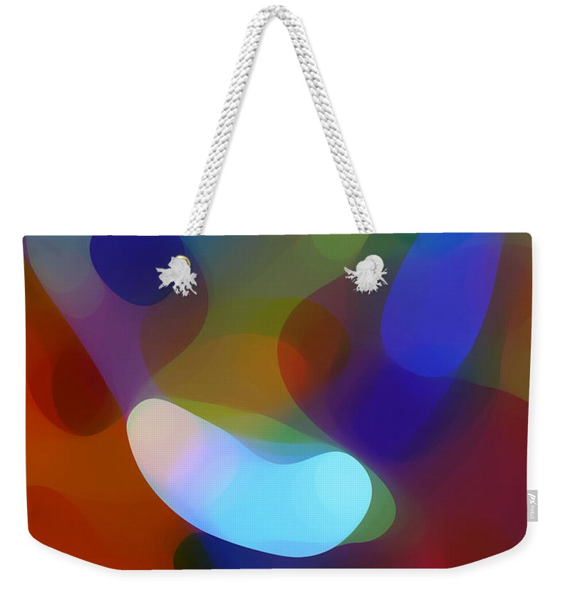 Weekender Tote Bag featuring the painting Falling Light by Amy Vangsgard