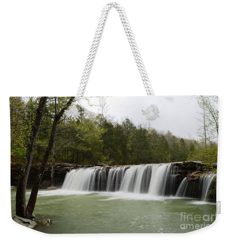 Waterfalls Weekender Tote Bag featuring the photograph Falling Water Falls by Deanna Cagle