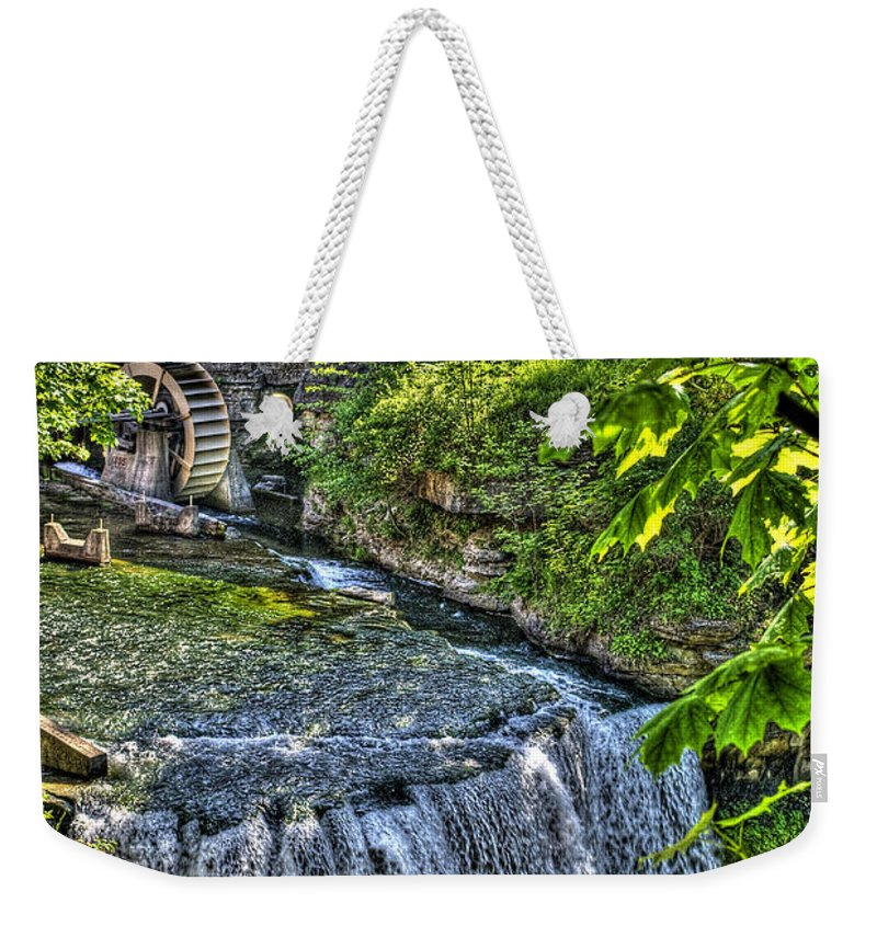 Hdr Weekender Tote Bag featuring the photograph Falls.. by Les Lorek