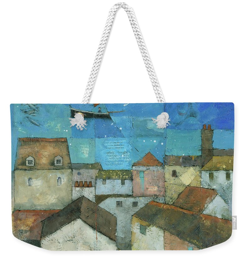 Abstract Weekender Tote Bag featuring the painting Falmouth by Steve Mitchell