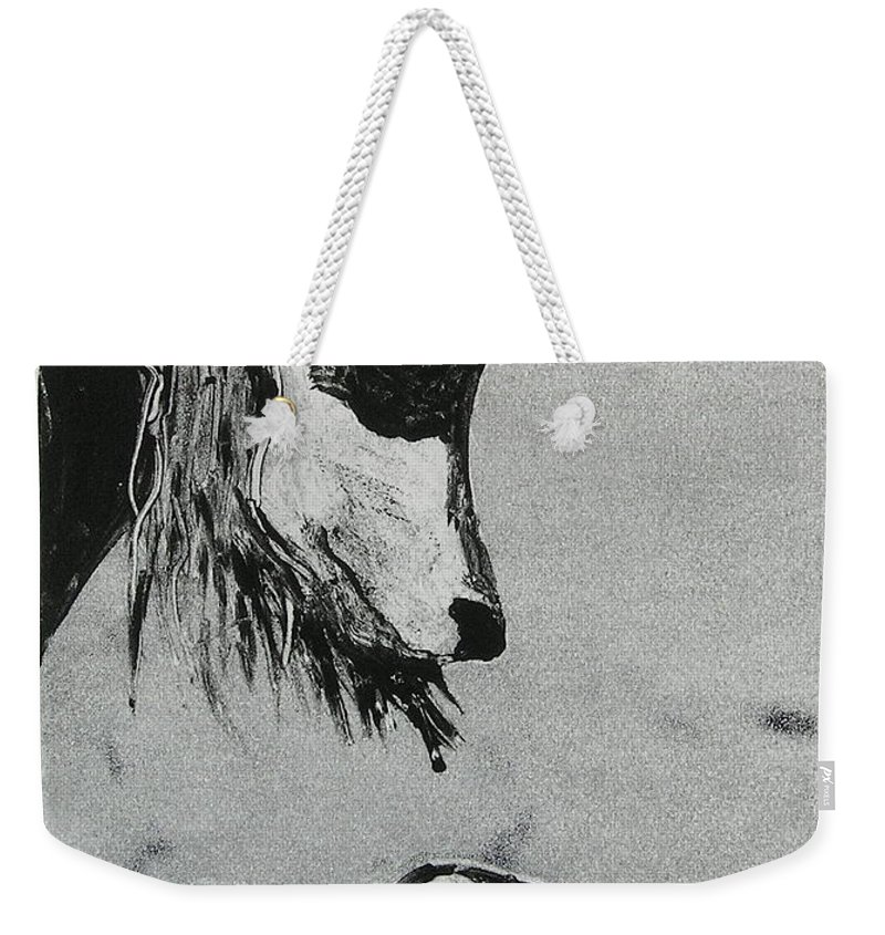 Saluki Weekender Tote Bag featuring the mixed media Family Affair by Cori Solomon