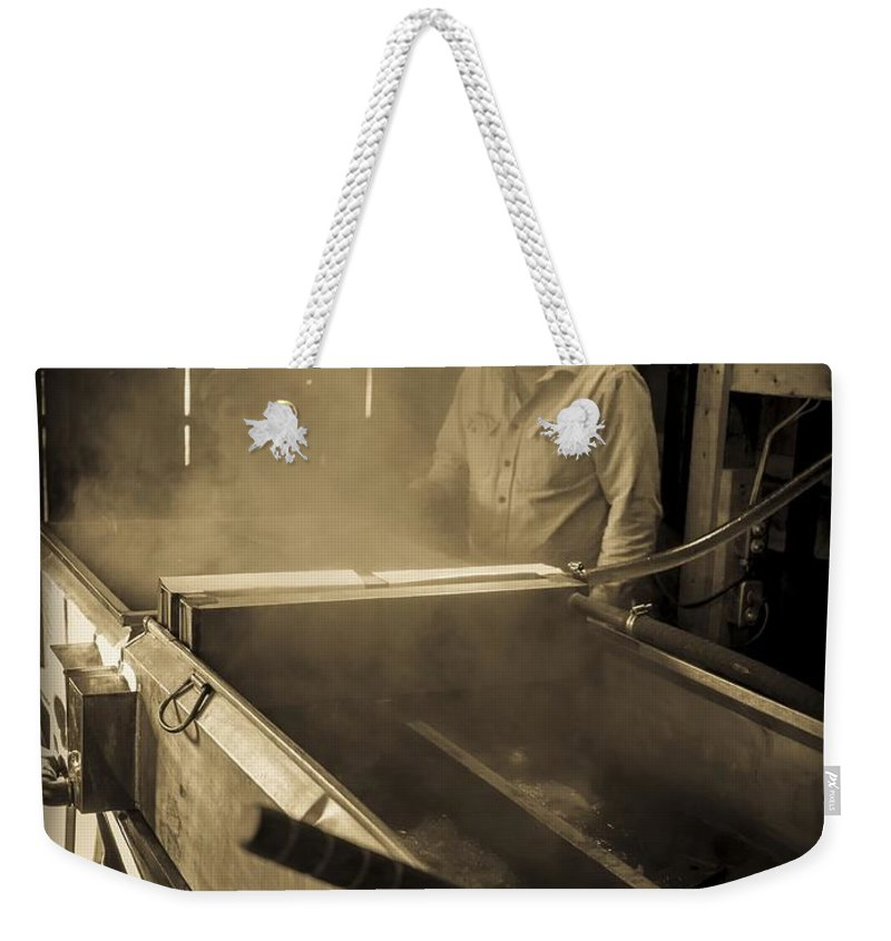 Maple Weekender Tote Bag featuring the photograph Family Tradition by Edward Fielding