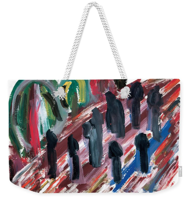 Contemporary Weekender Tote Bag featuring the painting Famine by Bjorn Sjogren
