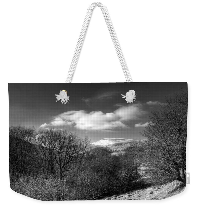 Fan Fawr Mountain Weekender Tote Bag featuring the photograph Fan Fawr Brecon Beacons 2 Mono by Steve Purnell