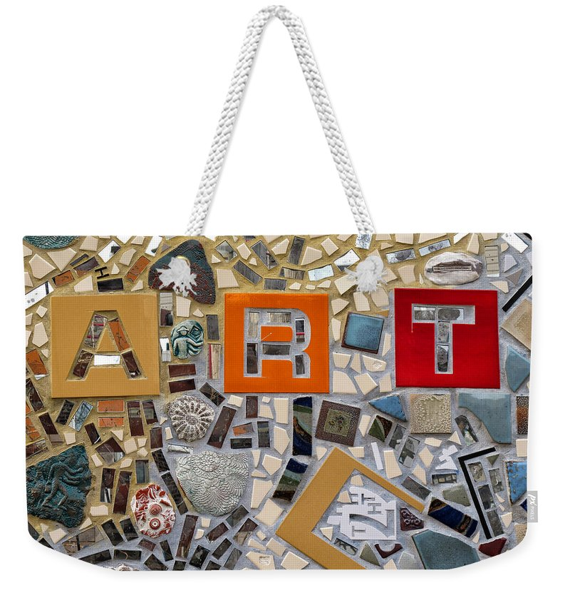 Tile Weekender Tote Bag featuring the photograph Fancy Mosaic by Dave Mills