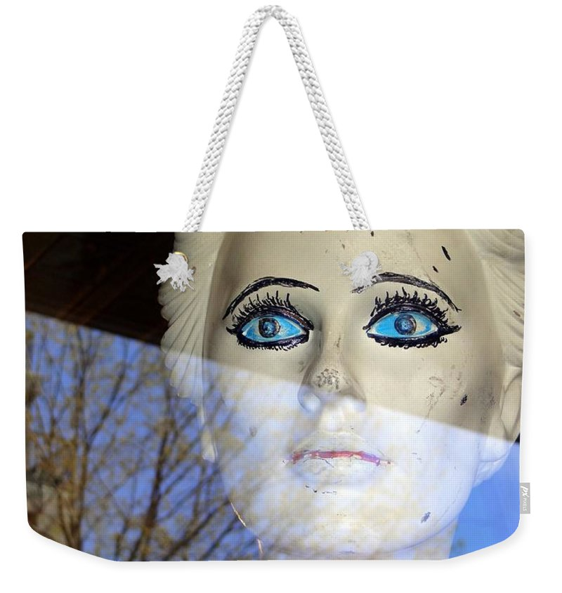 Mannequins Weekender Tote Bag featuring the photograph Far Away Eyes by Ed Weidman