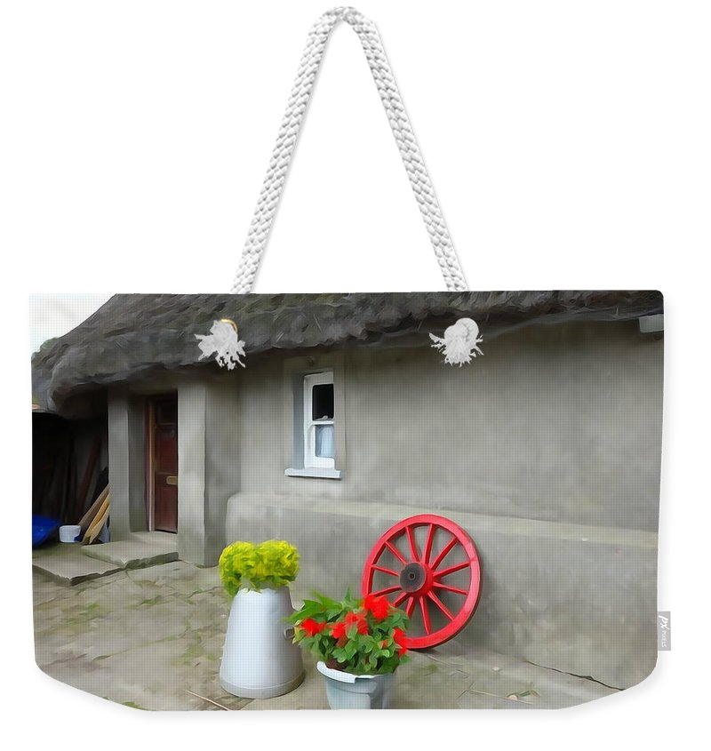 Farm Weekender Tote Bag featuring the photograph Farm Cottage by Charlie and Norma Brock