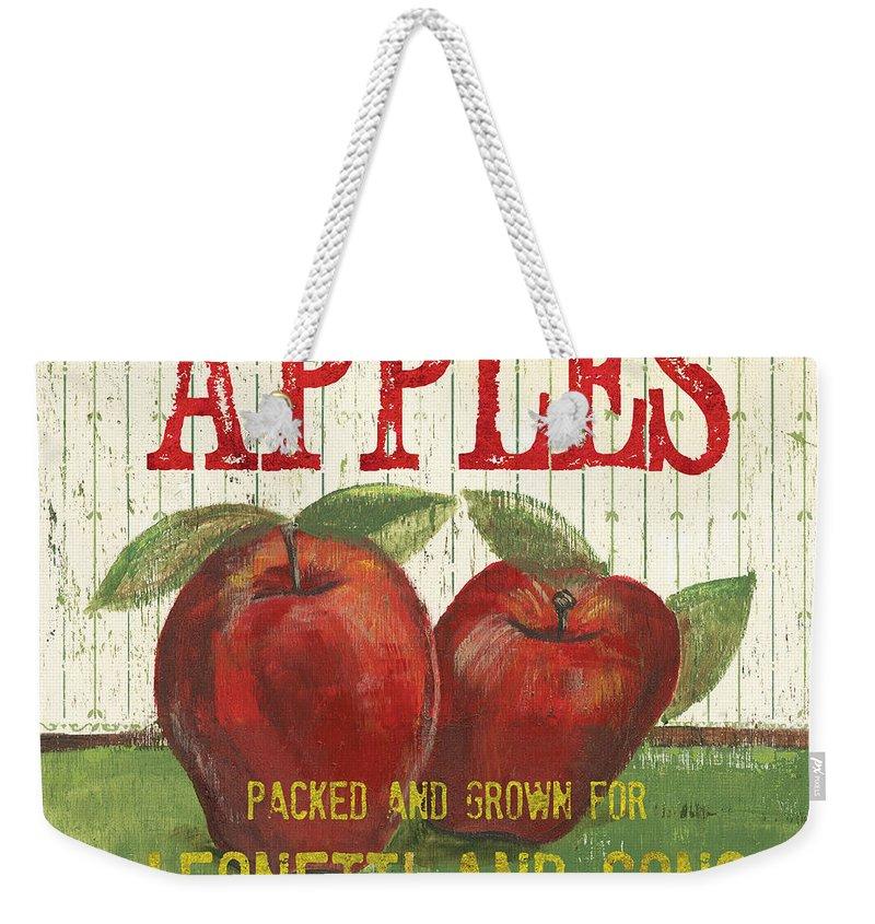 Apple Weekender Tote Bags