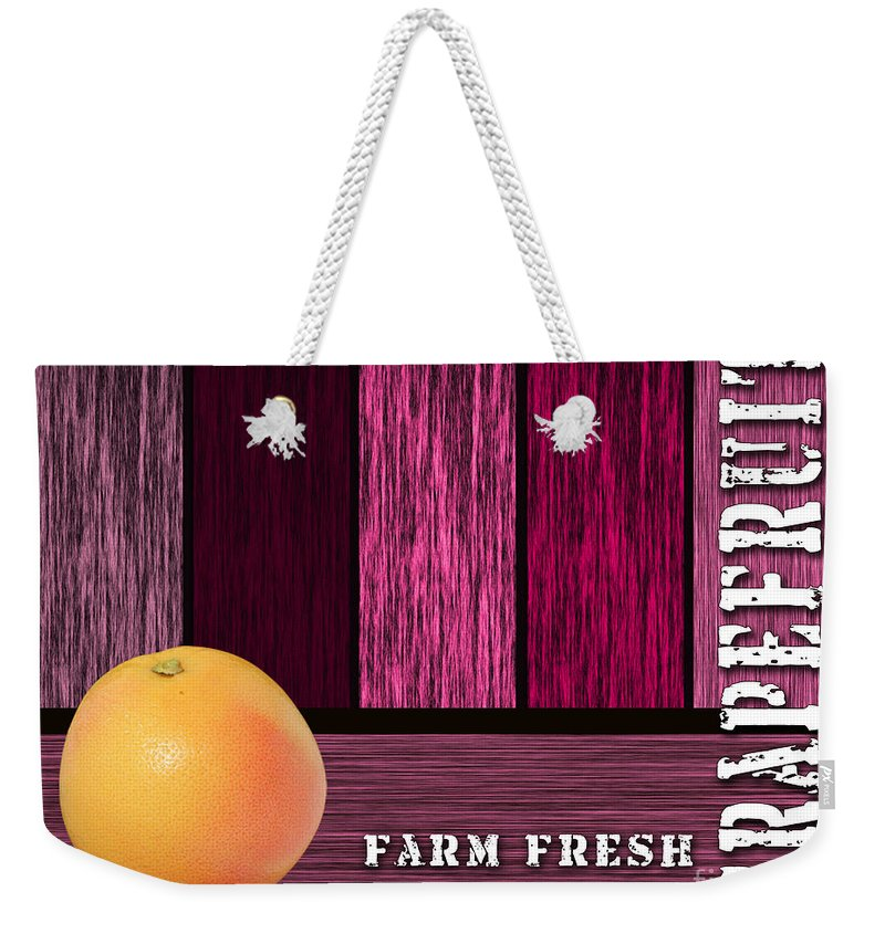 Grapefruit Paintings Mixed Media Weekender Tote Bag featuring the mixed media Farm Fresh by Marvin Blaine