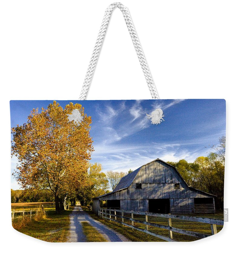 Tennessee Weekender Tote Bag featuring the photograph Farm Road by Diana Powell
