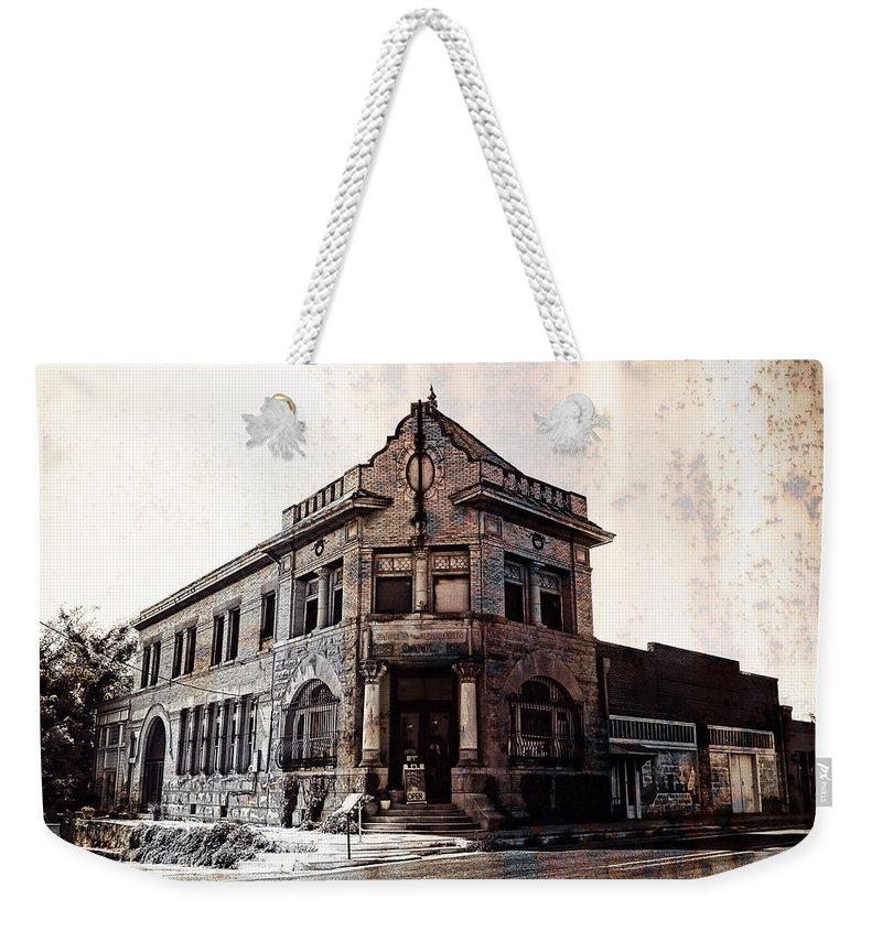 Farmers And Merchants Bank Weekender Tote Bag featuring the photograph Farmers And Merchants Bank by Douglas Barnard