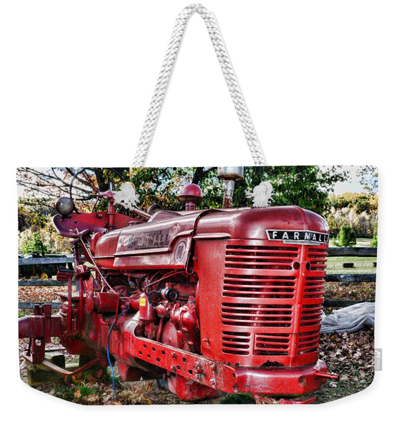 Paul Ward Weekender Tote Bag featuring the photograph Farmers Tractor by Paul Ward