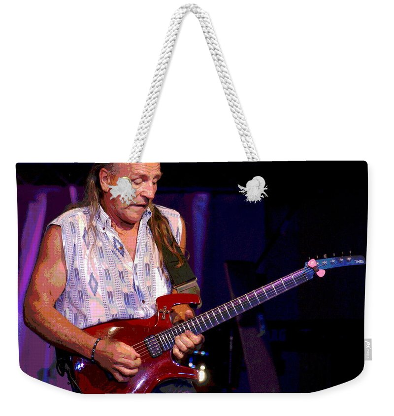 Mark Farner Weekender Tote Bag featuring the photograph Farner #3 Enhanced by Ben Upham