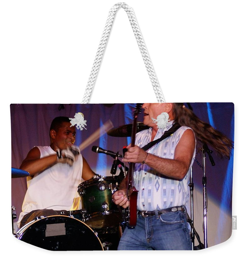 Mark Farner Weekender Tote Bag featuring the photograph Farner #7 by Ben Upham
