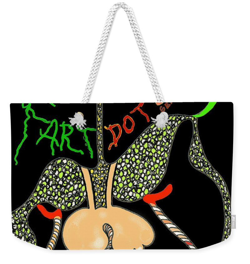 Genio Weekender Tote Bag featuring the mixed media Fart by Genio GgXpress