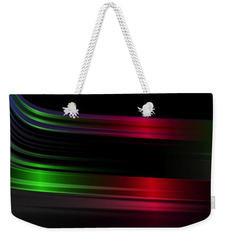 Dynamic Weekender Tote Bag featuring the digital art Fast by Judi Suni Hall