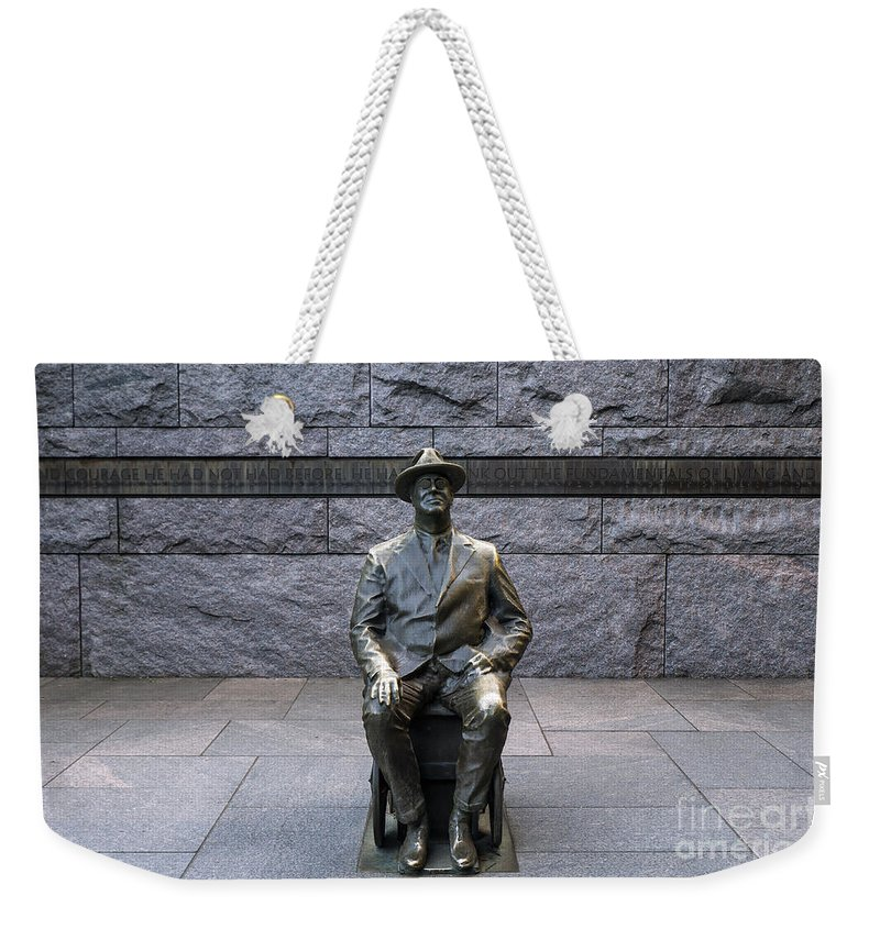 America Weekender Tote Bag featuring the photograph Fdr Memorial by John Greim