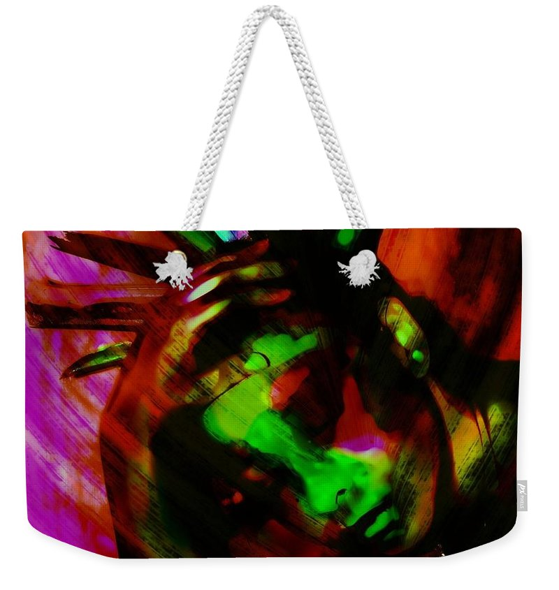 Color Weekender Tote Bag featuring the photograph Feathers Have Texture by Jessica Shelton