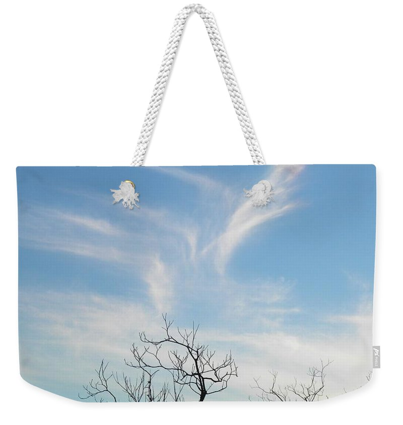 Postcard Weekender Tote Bag featuring the digital art February 09 2014 by Matthew Seufer