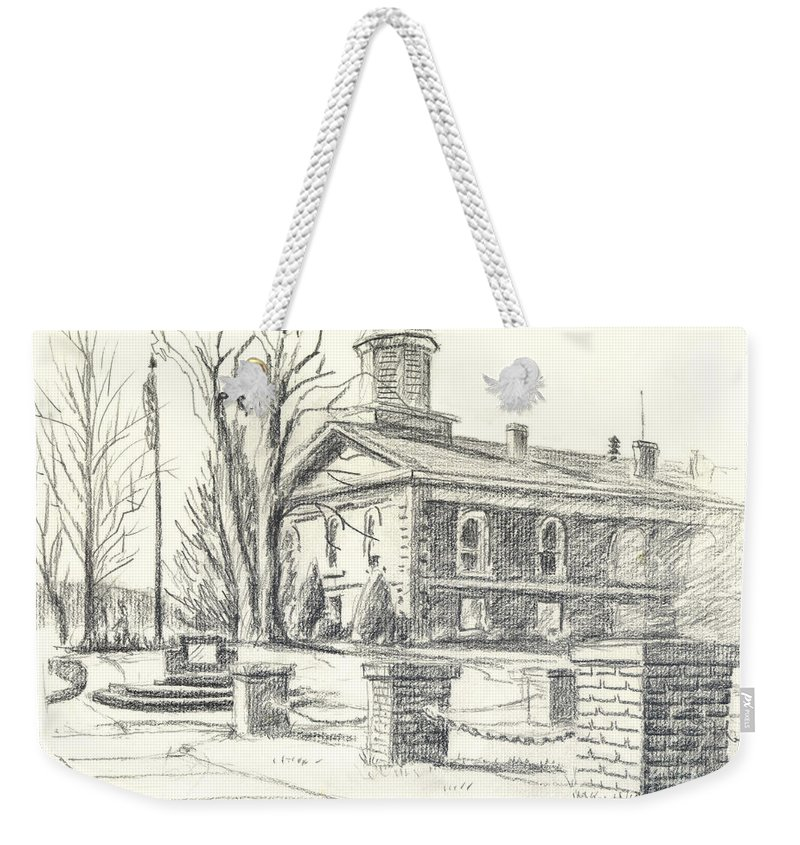 February Morning No Ctc102 Weekender Tote Bag featuring the drawing February Morning No Ctc102 by Kip DeVore