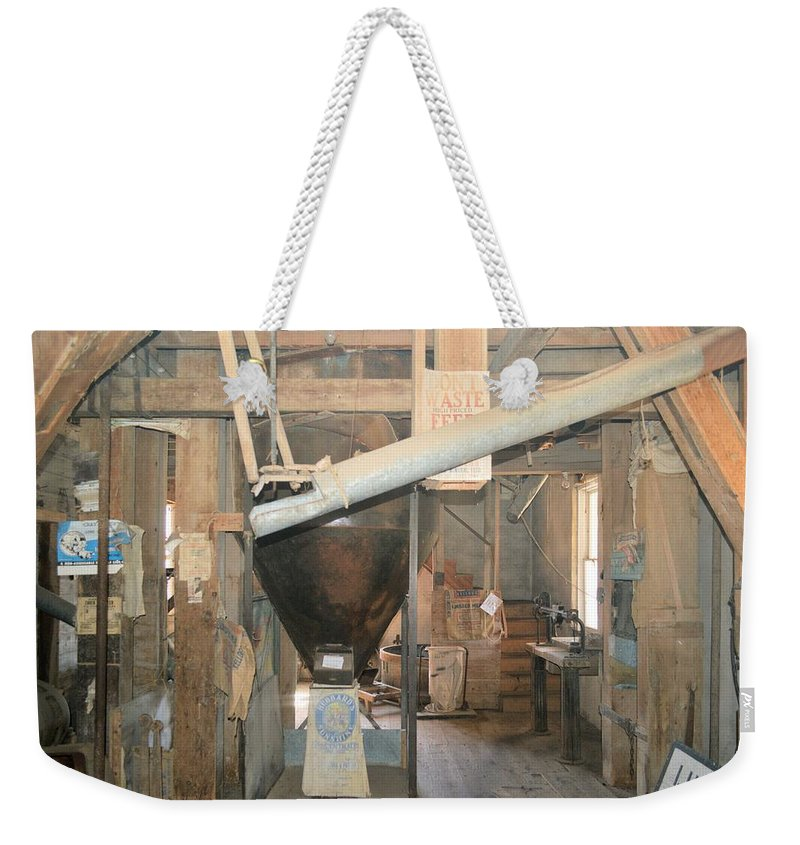 Lidtke Mill Weekender Tote Bag featuring the photograph Feed Mill by Bonfire Photography