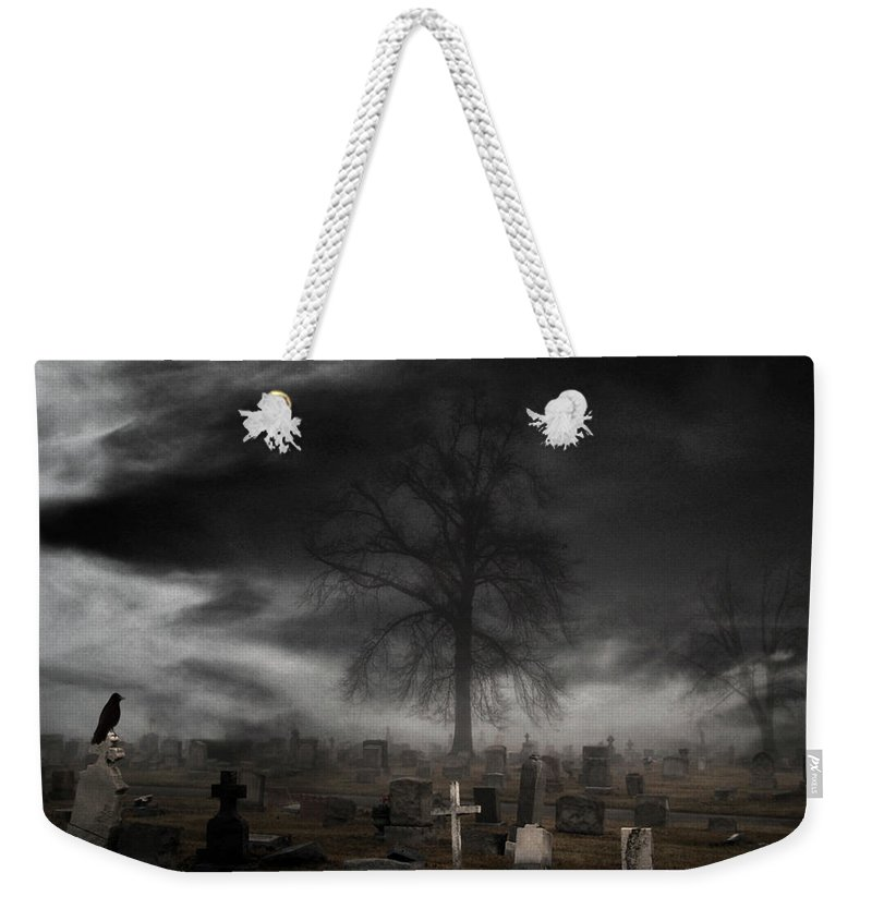 Monochrome Weekender Tote Bag featuring the photograph Feels Like Halloween by Gothicrow Images