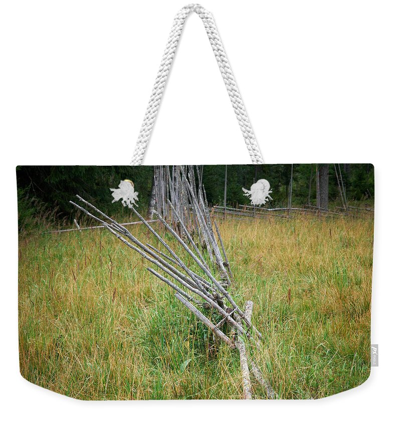 Finland Weekender Tote Bag featuring the photograph Fence by Jouko Lehto