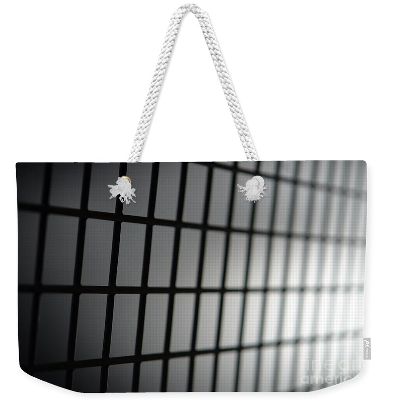 Prison Weekender Tote Bag featuring the photograph Fence by Olivier Le Queinec