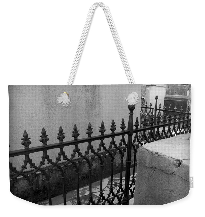 Fenced In Weekender Tote Bag featuring the photograph Fenced In by Beth Vincent