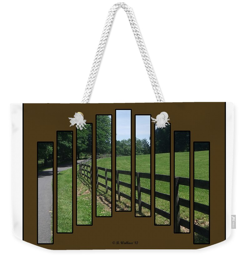 2d Weekender Tote Bag featuring the photograph Fenced Pasture by Brian Wallace