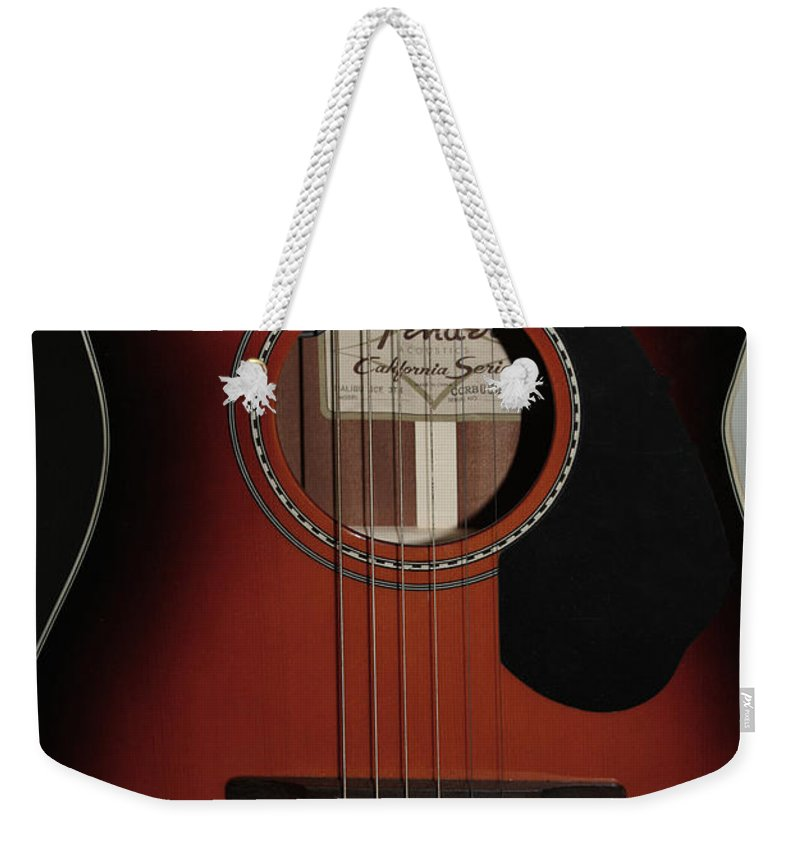 Fender Weekender Tote Bag featuring the photograph Fender by Linda Sannuti