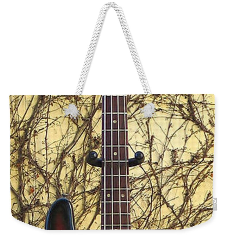 Bass Guitar Weekender Tote Bag featuring the photograph Fender Precision Bass 1968 by Phyllis Tarlow