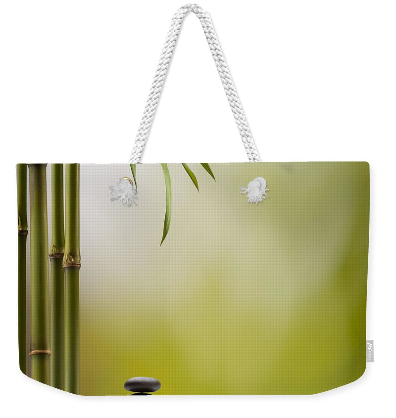 Bamboo Weekender Tote Bag featuring the photograph Feng Shui Bliss by Pixhook