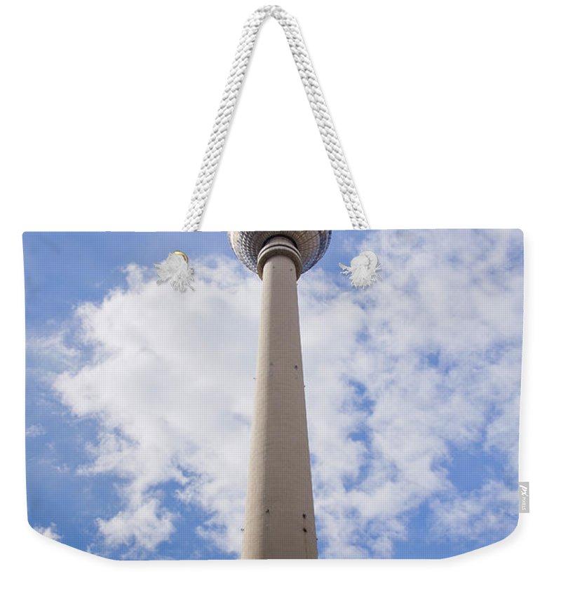 Fernsehturm Weekender Tote Bag featuring the photograph Fernsehturm Berlin by Sv