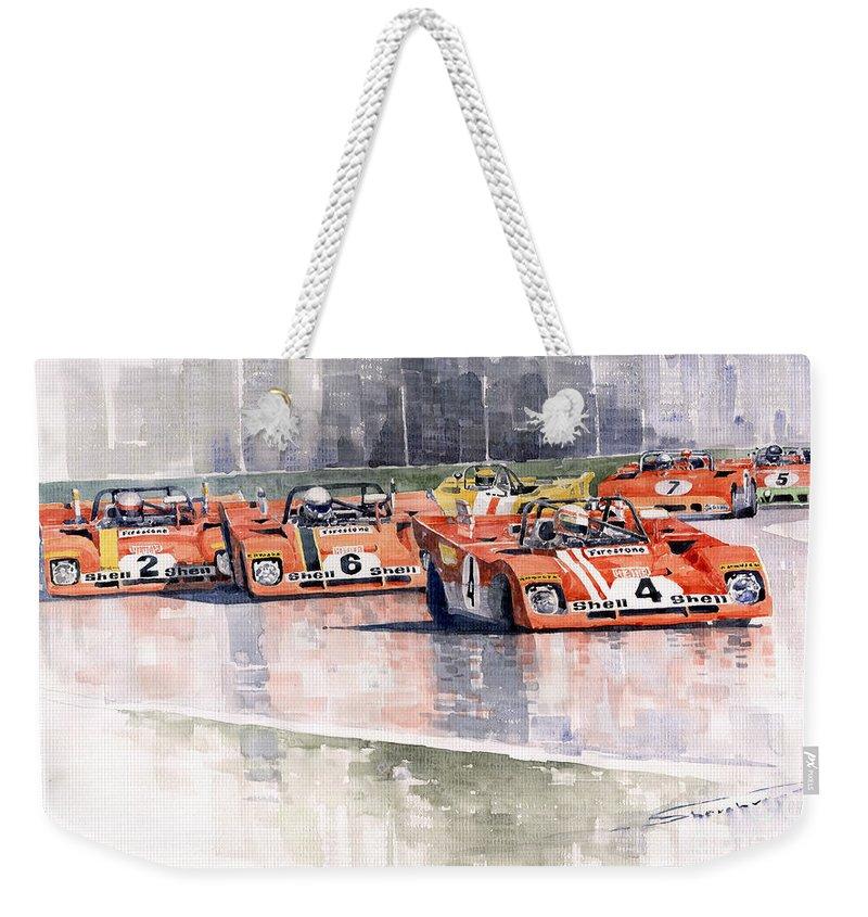 Motor Weekender Tote Bags