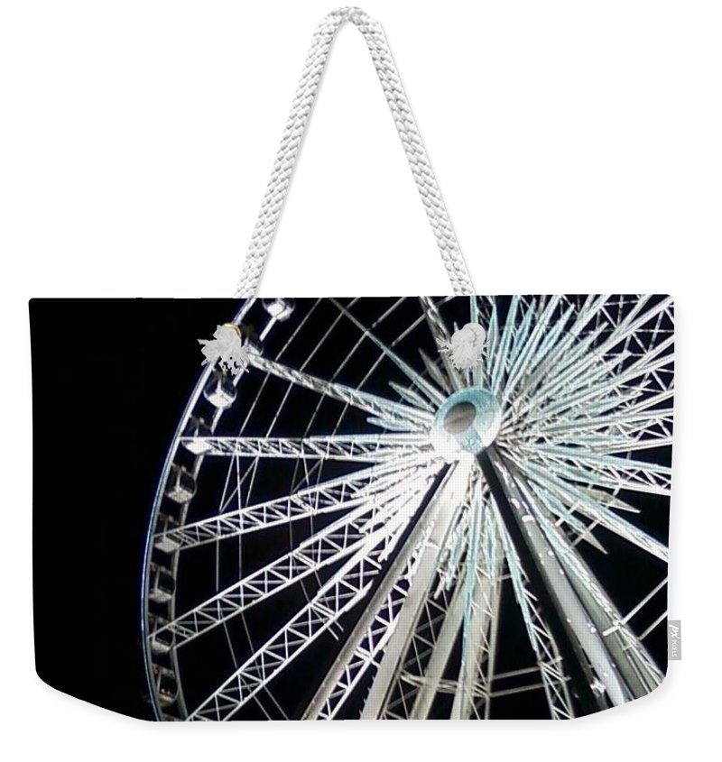 Ferris Wheel Weekender Tote Bag featuring the photograph Ferris Wheel 1 by Michelle Powell
