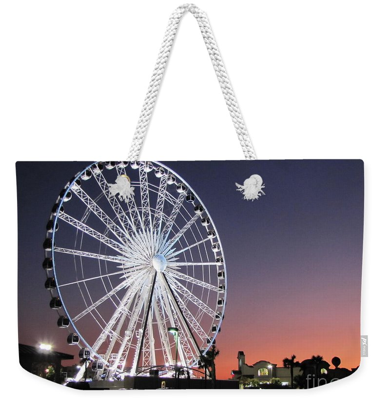 Ferris Wheel Weekender Tote Bag featuring the photograph Ferris Wheel 18 by Michelle Powell