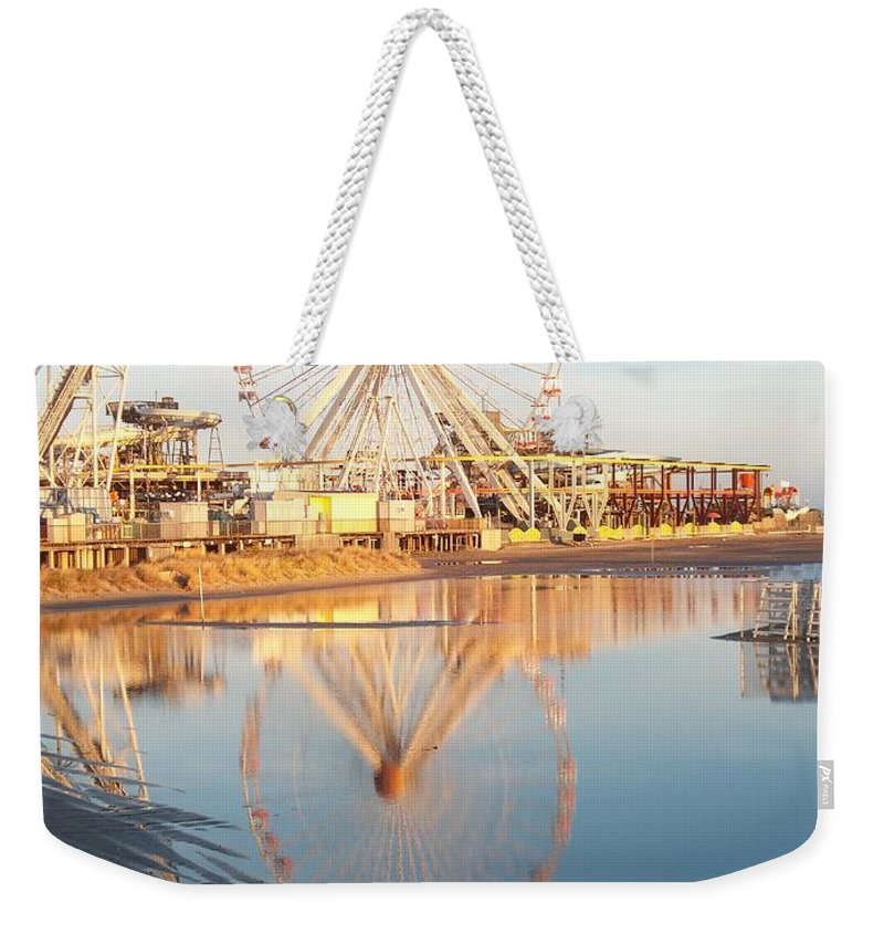 Ferris Wheels Weekender Tote Bag featuring the photograph Ferris Wheel Jersey Shore 2 by Eric Schiabor