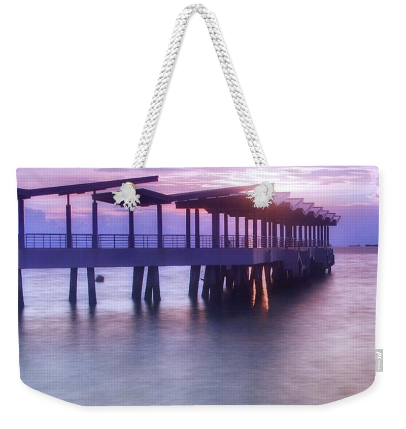 Scenics Weekender Tote Bag featuring the photograph Ferry Station by Melv Pulayan