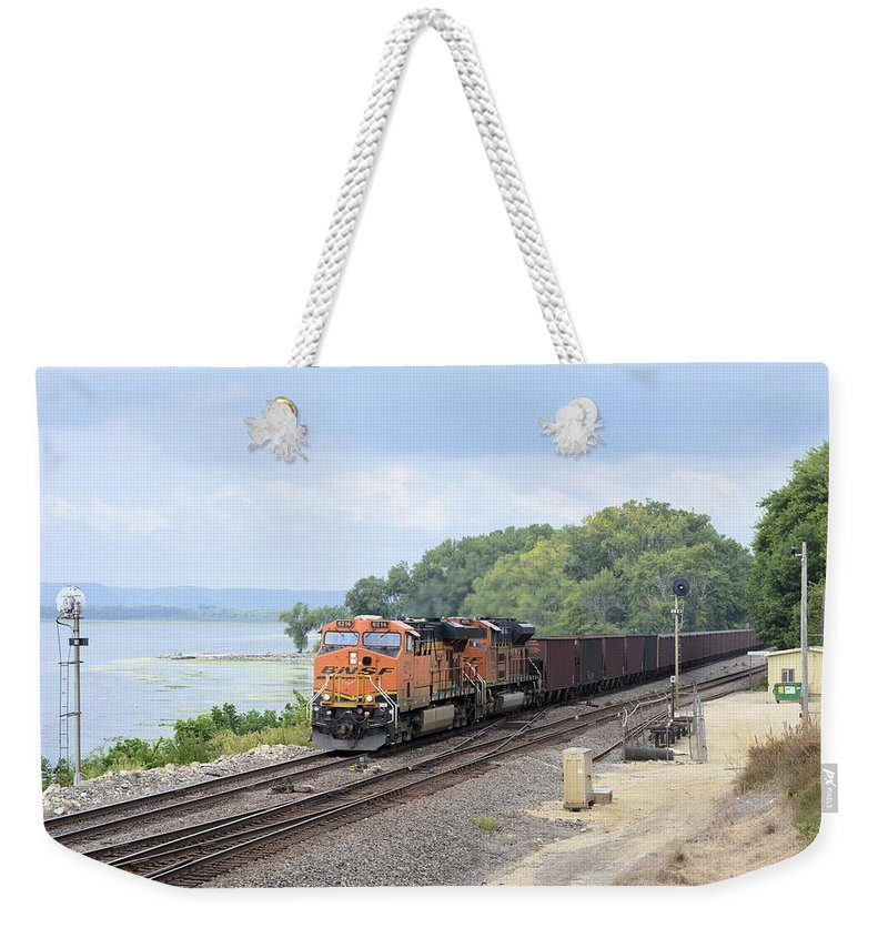 Train Weekender Tote Bag featuring the photograph Ferryville Train by Bonfire Photography