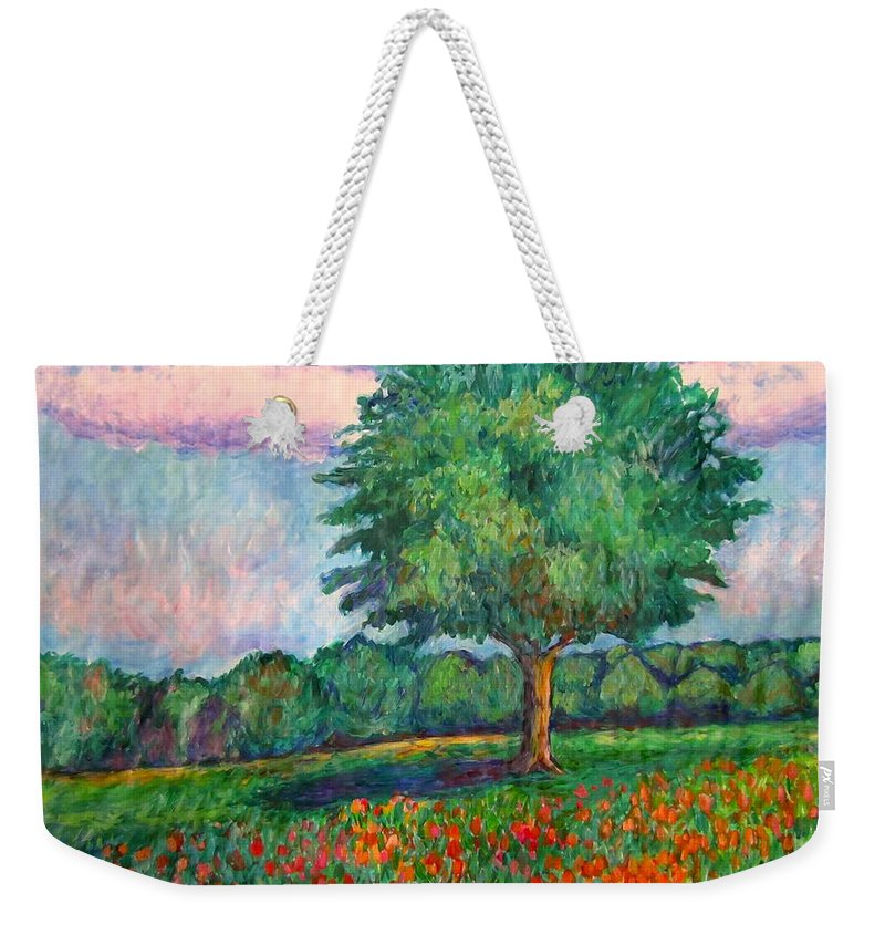 Trees Weekender Tote Bag featuring the painting Field Edge by Kendall Kessler